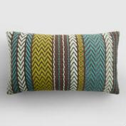 Java Multicolor Embroidered Indoor Outdoor Lumbar Pillow