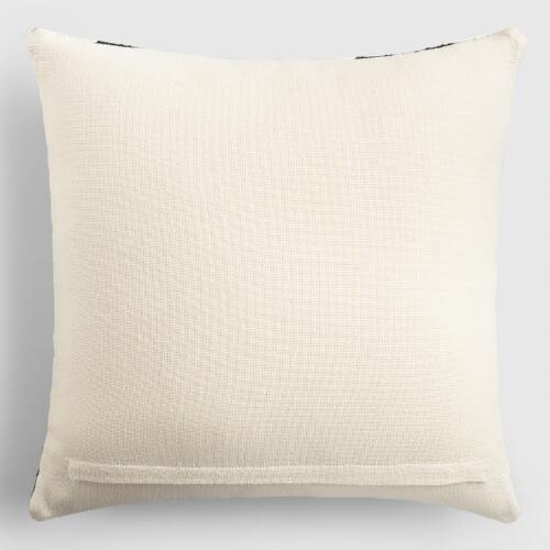 Black And Ivory Throw Pillows : Black and Ivory Geometric Indoor Outdoor Throw Pillow World Market