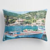Ithaca Isle Indoor Outdoor Throw Pillow