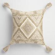 Green Kilim Indoor Outdoor Throw Pillow