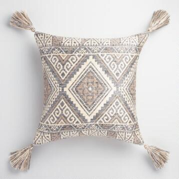 Blue Kilim Indoor Outdoor Throw Pillow