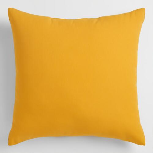Throw Pillow Yellow : Yellow Outdoor Throw Pillow World Market