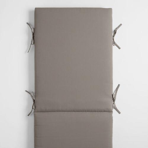 Gray Outdoor Pool Lounger Cushion