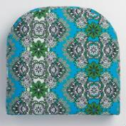 Gusset Blue Esmeralda Outdoor Chair Pad