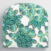Gusset Aqua Peacock Outdoor Chair Cushion