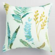 Green Fern Outdoor Throw Pillow