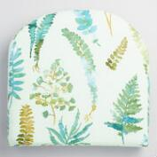 Green Fern Gusset Indoor Outdoor Chair Cushion