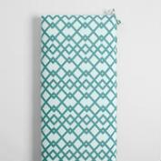 Aqua Geometric Outdoor Bench Cushion