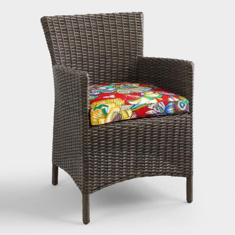 red orchid gusset outdoor chair cushion world market. Black Bedroom Furniture Sets. Home Design Ideas