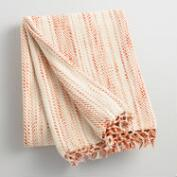 Orange Stripe Variegated Throw