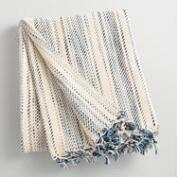 Blue Stripe Variegated Throw