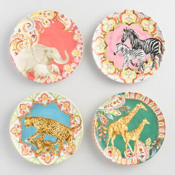 Serengeti Salad Plates Set of 4