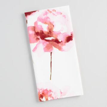 Pink Rose Watercolor Kitchen Towel