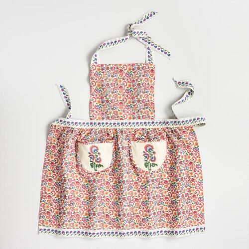 Multicolored Floral Apron