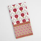 Pink Flower and Diamond Kitchen Towel