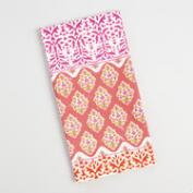Pink Stripe Patchwork Kitchen Towel