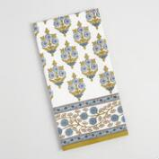 Blue and Green Bhuti Print Kitchen Towel