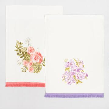 Floral Bouquet with Fringe Kitchen Towel Collection