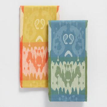 Ikat Jacquard Kitchen Towel Collection
