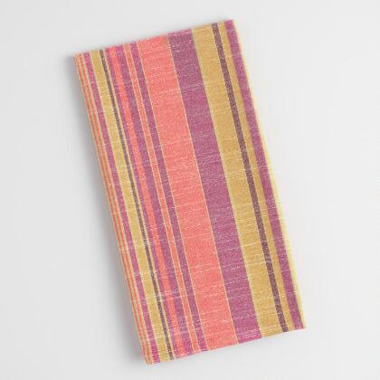 Warm Jardin Stripe Kitchen Towel
