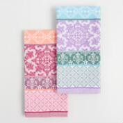 Warm and Cool Patchwork Jacquard Kitchen Towel Collection