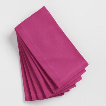 Magenta Buffet Napkins Set of 6