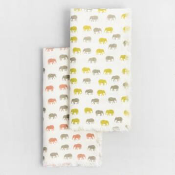 Elephant Linen Napkins Collection