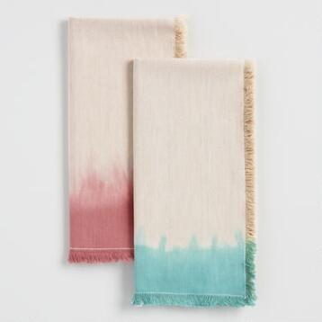 Dip Dye Fringed Napkins Collection