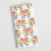 Floral Elephant Napkins Set of 4