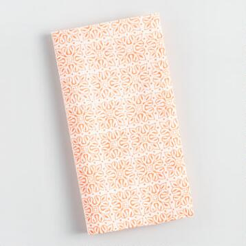 Orange Jali Diamond Napkins Set of 4