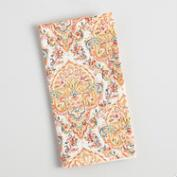 Coral Orange Bianca Napkins Set of 4