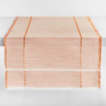 Oversized Orange Milange Khadi Table Runner
