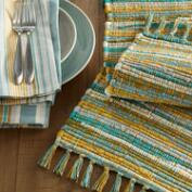 Cool Jardin Stripe Table Linen Collection