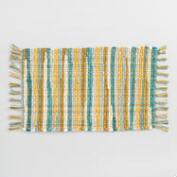 Cool Jardin Stripe Chindi Placemats Set of 4
