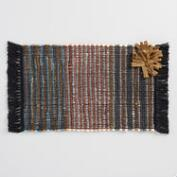 Woven Chindi Pompom Placemats Set of 4