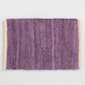 Purple Woven Chindi Placemats Set of 4
