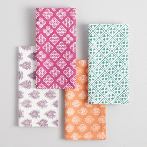 Four Way Pattern Napkins Collection