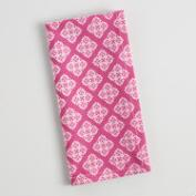 Magenta Four Way Pattern Napkins Set of 4