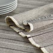 White and Brown Woven Jute Table Linen Collection