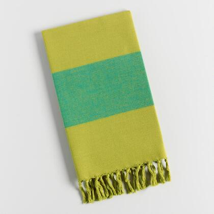 Green Awning Stripe Kitchen Towel