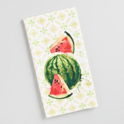 Watercolor Watermelon Kitchen Towel