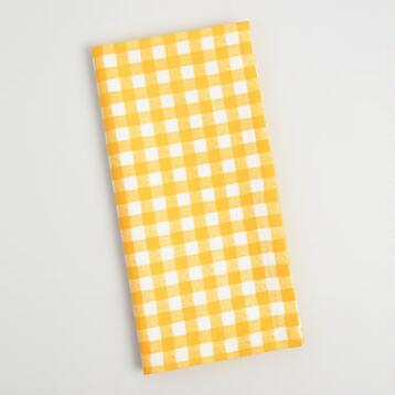 Yellow Gingham Napkins Set of 4