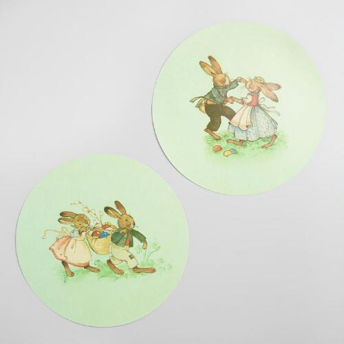 Nestler Bunny Wipe Off Placemats Set of 2