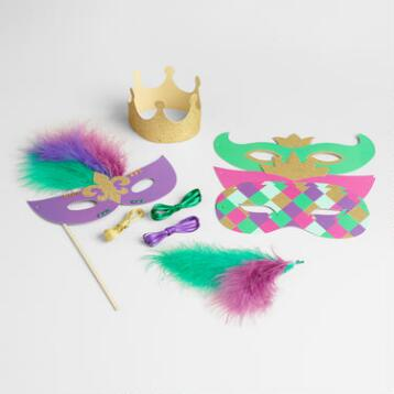 Mardi  Gras Mask and Crown Kit