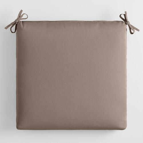 Sunbrella Taupe Canvas Outdoor Chair Cushion