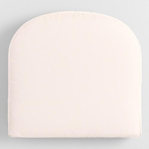 Sunbrella Natural Canvas Gusseted Outdoor Chair Cushion