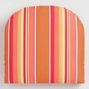 Sunbrella Mango Dolce Stripe Gusseted Outdoor Chair Cushion