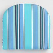 Sunbrella Oasis Dolce Stripe Gusseted Outdoor Chair Cushion