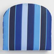 Sunbrella Cobalt Blue Milano Gusseted Outdoor Chair Cushion