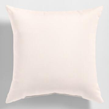 Sunbrella Natural Canvas Outdoor Throw Pillow
